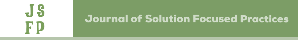 Journal of Solution Focused Practices