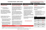 Cumulative Exams  (with a twist)