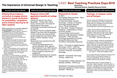 UNLV Best Teaching Practices Expo   Faculty Affairs