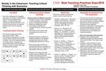 Reality in the Classroom: Teaching Critical Thinking with Scenarios by Timothy T. Self