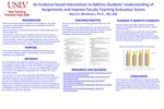 An Evidence-based Intervention to Address Students' Understanding of Assignments and Improve Faculty Teaching Evaluation Scores
