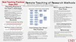 Remote Teaching of Research Methods
