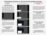 Embedding Quizzes in On-line Prerecorded Lectures by Joshua M. Polanski