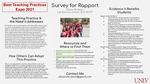 Survey for Rapport by Allison McSwain