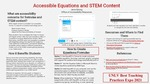 Accessible Equations and Other STEM Content