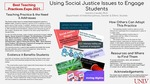 Using Social Justice Issues to Engage Students by Sandra L. Candel