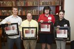 2010 Calvert Award winners (left to right): Thomas J. Birmingham, David G. Huggins, Junichi Miyamoto, Vanessa Gomez