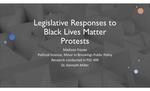 Legislative Responses to Black Lives Matter Protests