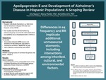 Apolipoprotein E and Development of Alzheimer's Disease in Hispanic Populations: A Scoping Review