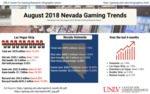 August 2018 Nevada Gaming Trends by Center for Gaming Research