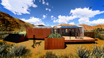 DesertSol: Exterior, Back View by University of Nevada, Las Vegas Solar Decathlon Team.