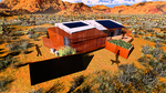 DesertSol: Exterior, Back View (Left) by University of Nevada, Las Vegas Solar Decathlon Team.