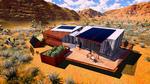 DesertSol: Exterior, Sky View by University of Nevada, Las Vegas Solar Decathlon Team.
