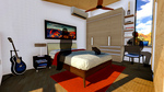 DesertSol: Interior, Bedroom by University of Nevada, Las Vegas Solar Decathlon Team.
