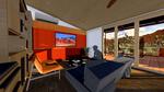 DesertSol: Interior, Living Room by University of Nevada, Las Vegas Solar Decathlon Team.
