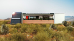 Sinatra Living: Exterior, Back View by University of Nevada, Las Vegas Solar Decathlon Team.