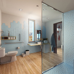 Sinatra Living: Interior, Bathroom by University of Nevada, Las Vegas Solar Decathlon Team.