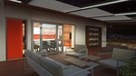 Sinatra Living: Interior, Living Room by University of Nevada, Las Vegas Solar Decathlon Team.
