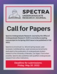 Spectra Volume 1, Issue 2: Call for Papers by UNLV Office of Undergraduate Research